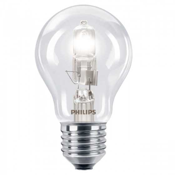 Set 2 Becuri Halogen Philips EcoClassic 42W(55W) E27 A55 Clar 2800k