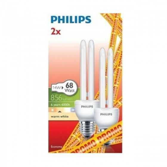 Bec Economic Philips Economy Stick 14W(68W) E27 WW 2700K Set 2 buc.
