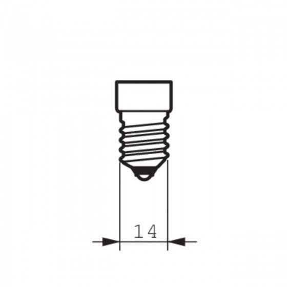 Bec Economic Philips Softone Candle 8W(35W) E14 WW 2700K