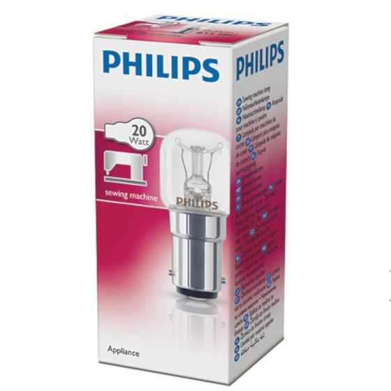 Bec Incandescent Philips Masina de Cusut 20W B15 Clar 2700K