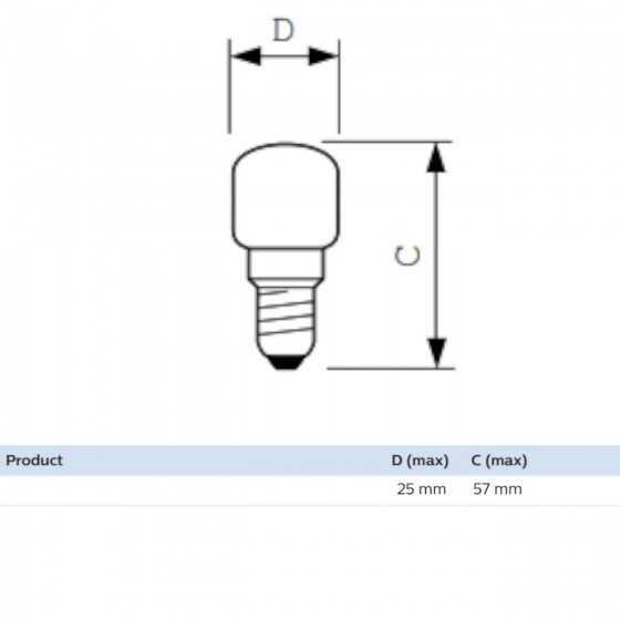 Bec Incandescent Philips Frigider 15W E14 Clar 2700K
