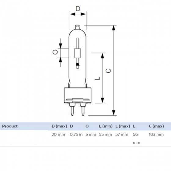 Bec Halogenuri Metalice Philips MASTERColour CDM-T 35W/830 G12 3000K