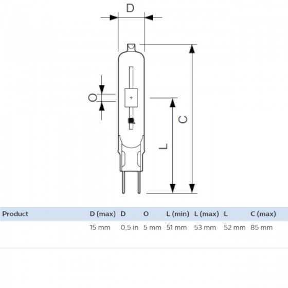 Bec Halogenuri Metalice Philips MASTERColour CDM-TC 70W/842 G8.5 4200K