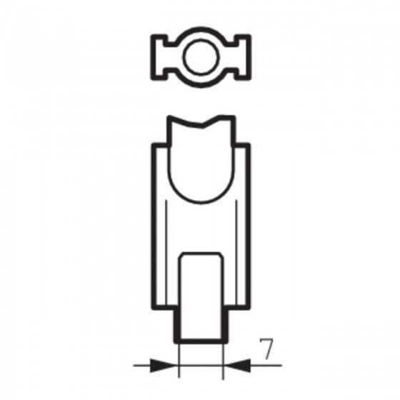 Bec Halogenuri Metalice Philips MASTERColour MHN-TD 70W/730 RX7S 3000K