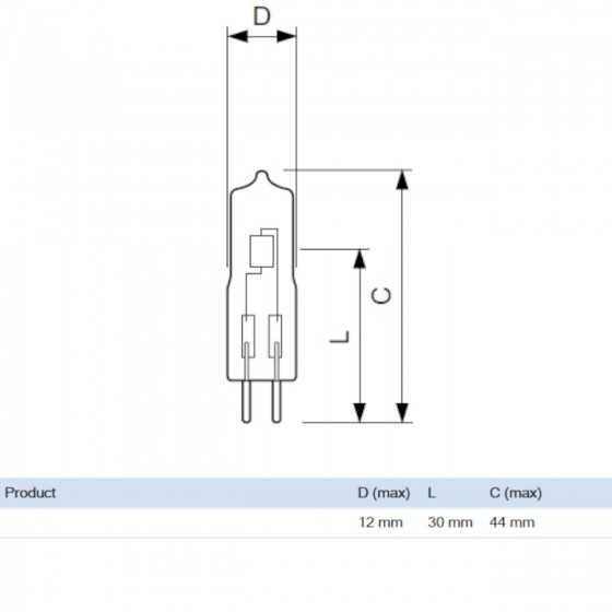 Bec Halogen Philips Caps 25W GY6.35 12V 3000k Clar