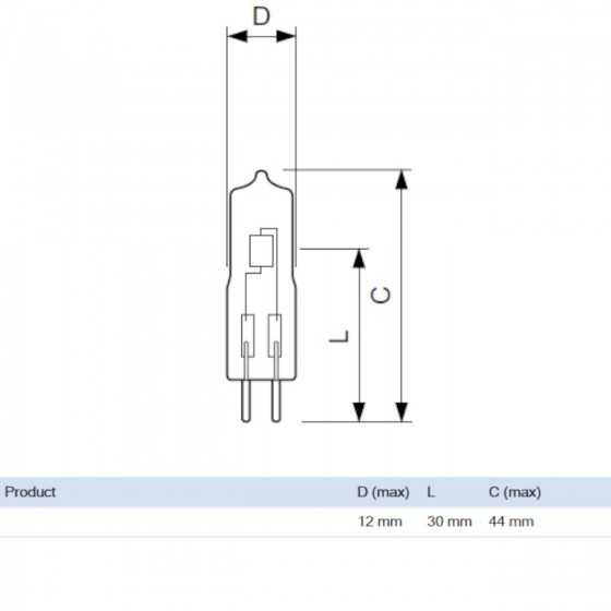 Bec Halogen Philips Caps 35W GY6.35 12V 3000k Clar