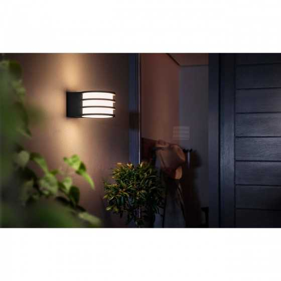 Aplica Exterior LED Philips Hue Lucca 17401/93/P0 9W (60W) 806lm lumina alba calda