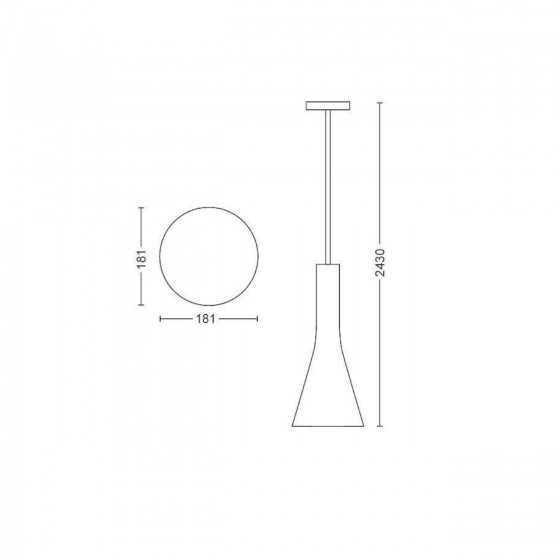 Pendul LED Philips Hue Explore Led Ambiance 43001/31/P7 9.5W (60W) 806lm lumina alba calda-rece + intrerupator dimmer