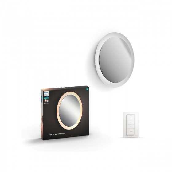 Aplica LED Philips Hue Adore Oglinda Led Ambiance 34357/31/P7 40W (204W) 2400lm lumina alba calda-rece + intrerupator dimmer