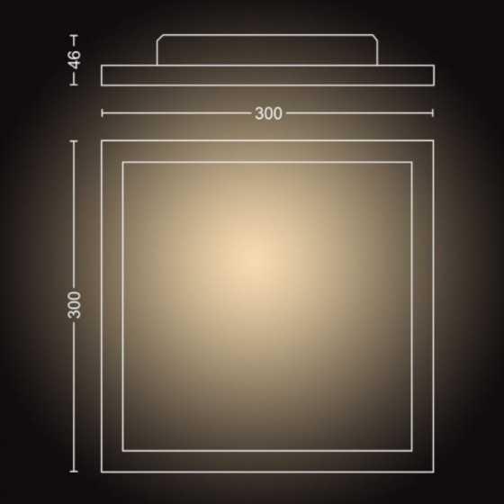Plafoniera LED Philips Hue Aurelle 32161/31/P6  Bluetooth  24.5W (204W) 2200lm lumina alba calda-rece + intrerupator dimmer