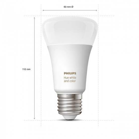 Bec LED Philips HUE RGB Bluetooth 9W(60W) E27 A60 806lm Lumina RGB