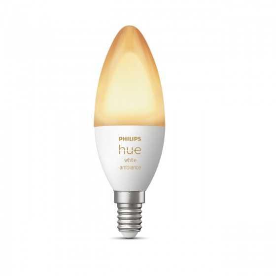 Bec LED Philips HUE White Bluetooth 5.2W(40W) E14 B39 470lm Lumina Alba Calda-Rece