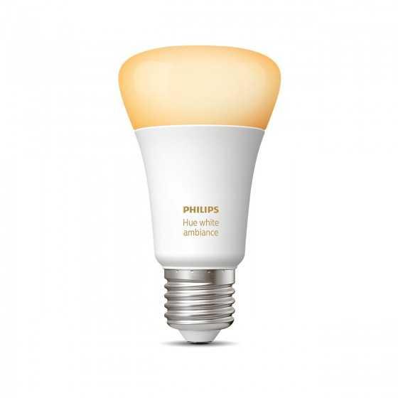 Bec LED Philips HUE White Ambiance Bluetooth 8.5W(60W) E27 A60 806lm Lumina Alba Calda-Rece