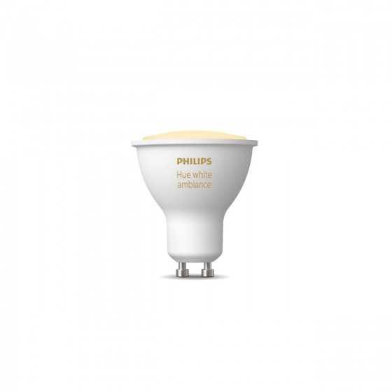 Bec LED Philips HUE White Ambiance Bluetooth 5W(50W) GU10 350lm Lumina Alba Calda-Rece