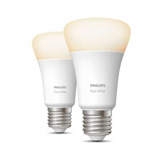 Set 2 Becuri LED Philips HUE White Ambiance Bluetooth 8.5W(60W) E27 A60 806lm Lumina Alba Calda-Rece