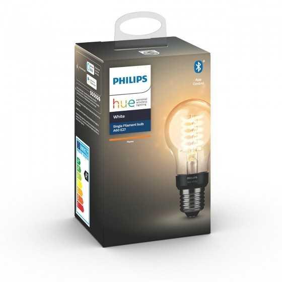 Bec LED Philips HUE Filament Bluetooth 7W(40W) E27 A60 550lm Lumina Alba Calda