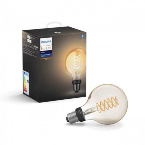 Bec LED Philips HUE Filament Bluetooth 7W(40W) E27 G93 550lm Lumina Alba Calda