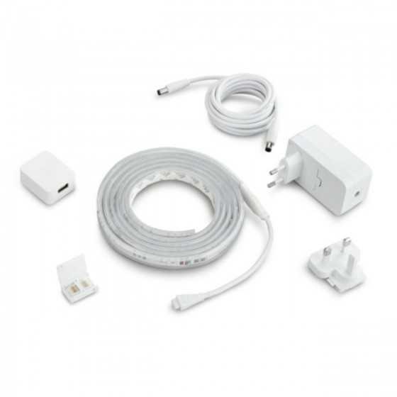 Banda LED Philips Hue LightStrip V4 Baza 2m Bluetooth 20W 1600lm Lumina RGB
