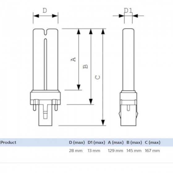Bec Compact Fluorescent Philips Actinic BL PL-S 9W/10/2P G23, capcane Insecte