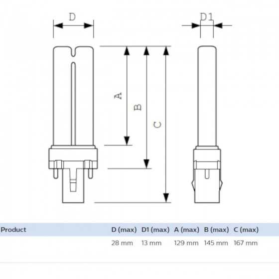 Bec Compact Fluorescent TUV PL-S 9W/2P G23, germicidal apa aer