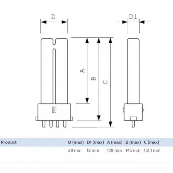 Bec Compact Fluorescent TUV PL-S 9W/4P 2G7, germicidal apa aer