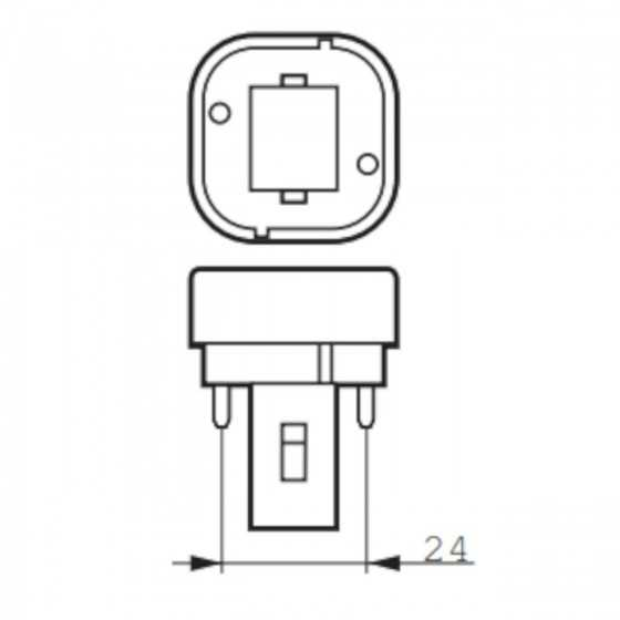 Bec Compact Fluorescent Philips Master PL-C 26W/865/2P G24d-3