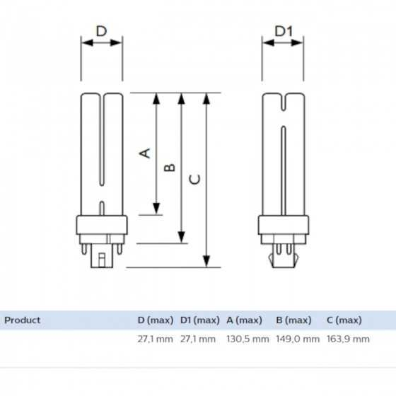 Bec Compact Fluorescent Philips Master PL-C 26W/830/4P G24q-3