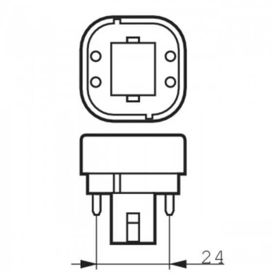 Bec Compact Fluorescent Philips Master PL-C 18W/830/4P G24q-2