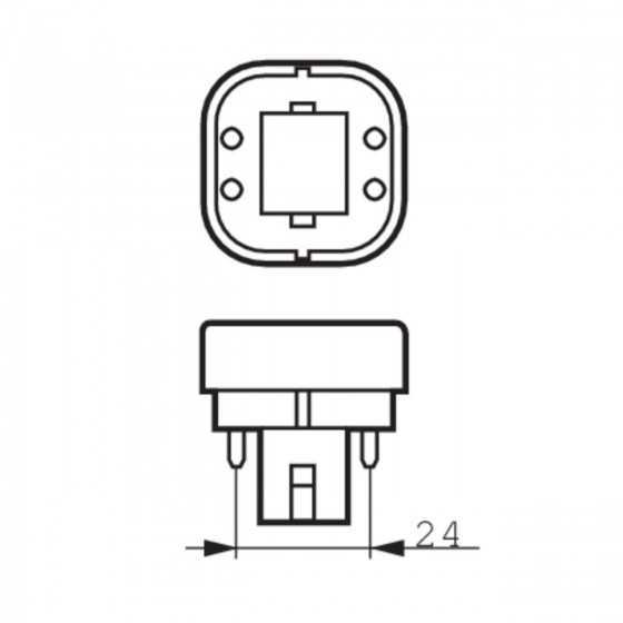 Bec Compact Fluorescent Philips Master PL-C 10W/830/4P G24q-1