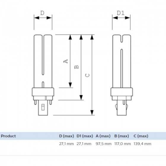 Bec Compact Fluorescent Philips Master PL-C 13W/840/2P G24d-1