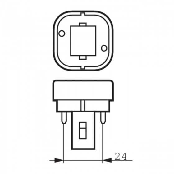 Bec Compact Fluorescent Philips Master PL-C 10W/830/2P G24d-1