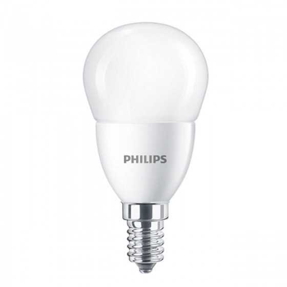 Set 2 becuri LED Clasic Philips 7W(60W) E14 P48 806 lm 2700K Mat