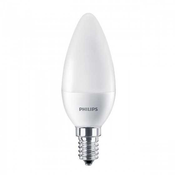 Bec LED Lumanare Philips 4.5W(40W) E14 B35 407 lm 4000K Mat
