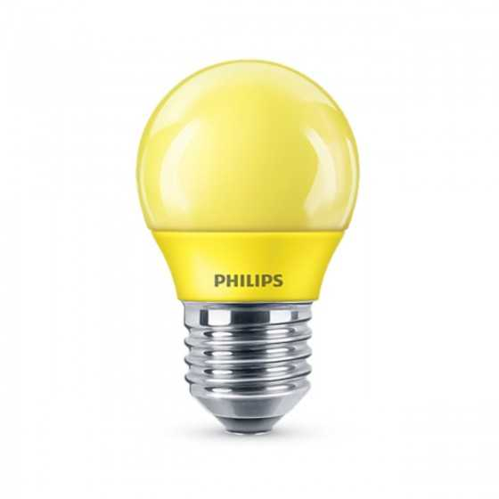 Bec LED Colored Philips 3.1W(25W) E27 P45 160 Galben