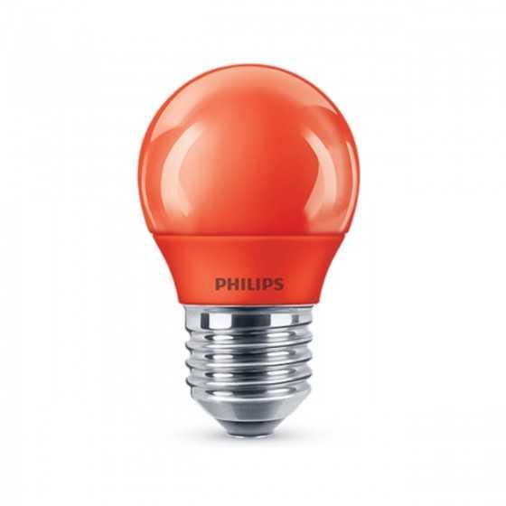 Bec LED Colored Philips 3.1W(25W) E27 P45 150 Rosu