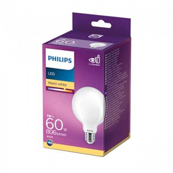 Bec LED Clasic Philips 7W(60W) E27 G93 Glob 806 lm 2700K Mat