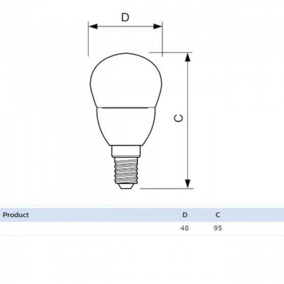 Bec LED Clasic Philips 7W(60W) E14 P48 830 lm 4000K Mat