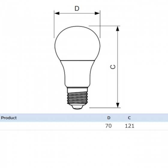 Bec LED Clasic Philips 13W(120W) E27 A67 2000 lm 6500K Mat