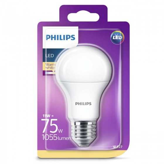 Bec LED Clasic Philips 11W(75W) E27 A60 1055 lm 2700K Mat