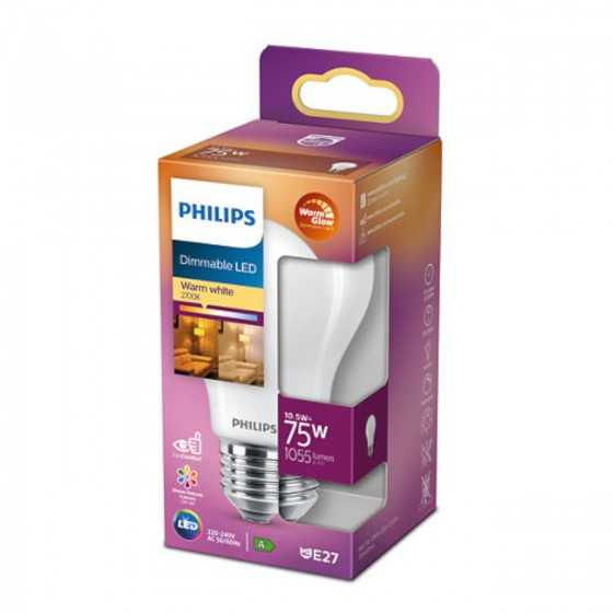 Bec LED Clasic Philips 10.5W(75W) E27 Dimabil A60 1055 lm 2000K-2700K