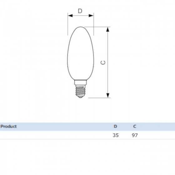 Set 2 becuri LED Filament Philips 4.3W(40W) E14 B35 470 lm 4000K Clar
