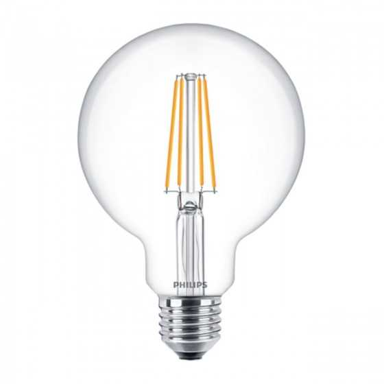 Bec LED Filament Philips 7W(60W) E27 G93 Glob 806 lm 2700K Clar