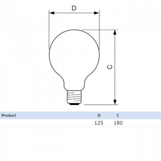 Bec LED Filament Philips 7.2W(50W) E27 Dimabil G120 Glob 650 lm 2000-2700K Vintage Gold