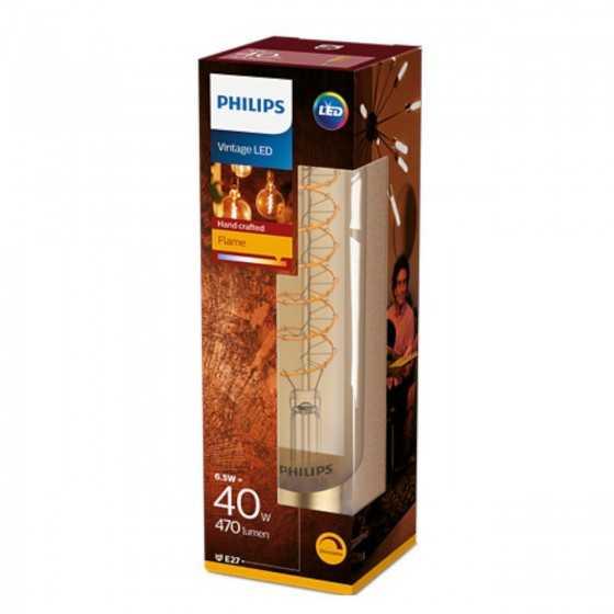 Bec LED Filament Philips 6.5W(40W) E27 Dimabil T65 470 lm 2000K Vintage Giant Gold
