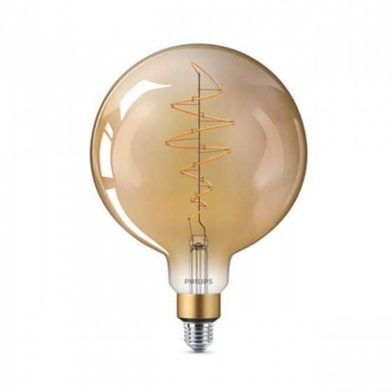 Bec LED Filament Philips 6.5W(40W) E27 Dimabil G200 Glob 470 lm 2000K Vintage Giant Gold