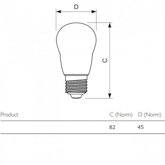 Bec LED Filament Philips 4W(40W) E27 P45 470 lm 2700K Clar