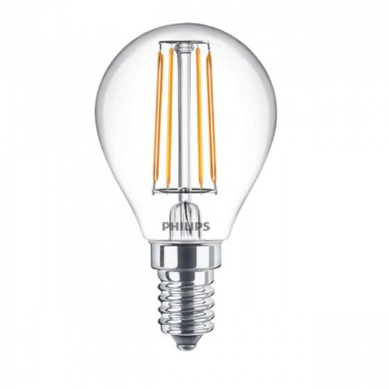 Bec LED Filament Philips 4.3W(40W) E14 P45 470 lm 2700K Clar