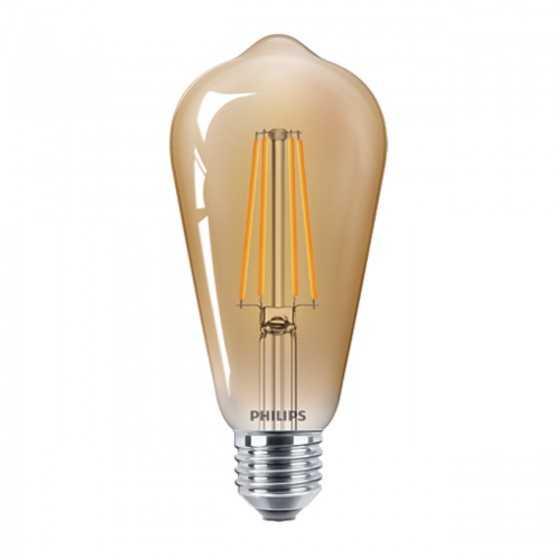 Bec LED Filament Philips 4W(35W) E27 ST64 400 lm 2500K Vintage Gold