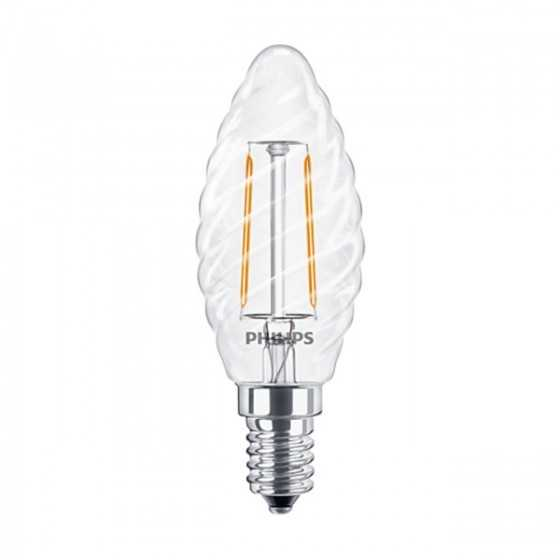 Bec LED Filament Philips 2W(25W) E14 ST35 250 lm 2700K Clar