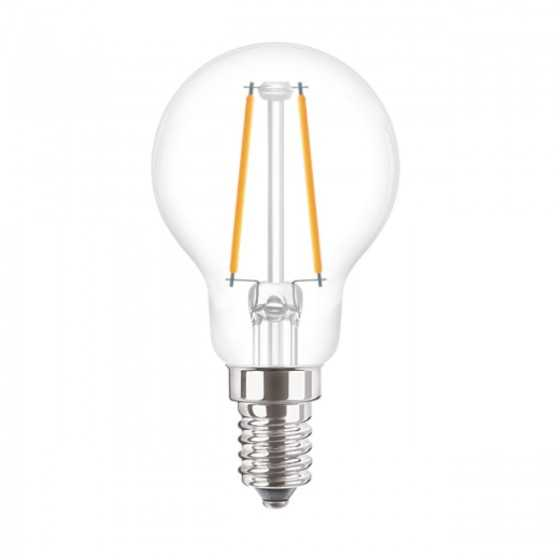 Bec LED Filament Philips 2W(25W) E14 P45 250 lm 2700K Clar